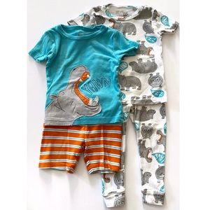 🦛Just One You Hippo Pajama Set 18 Months